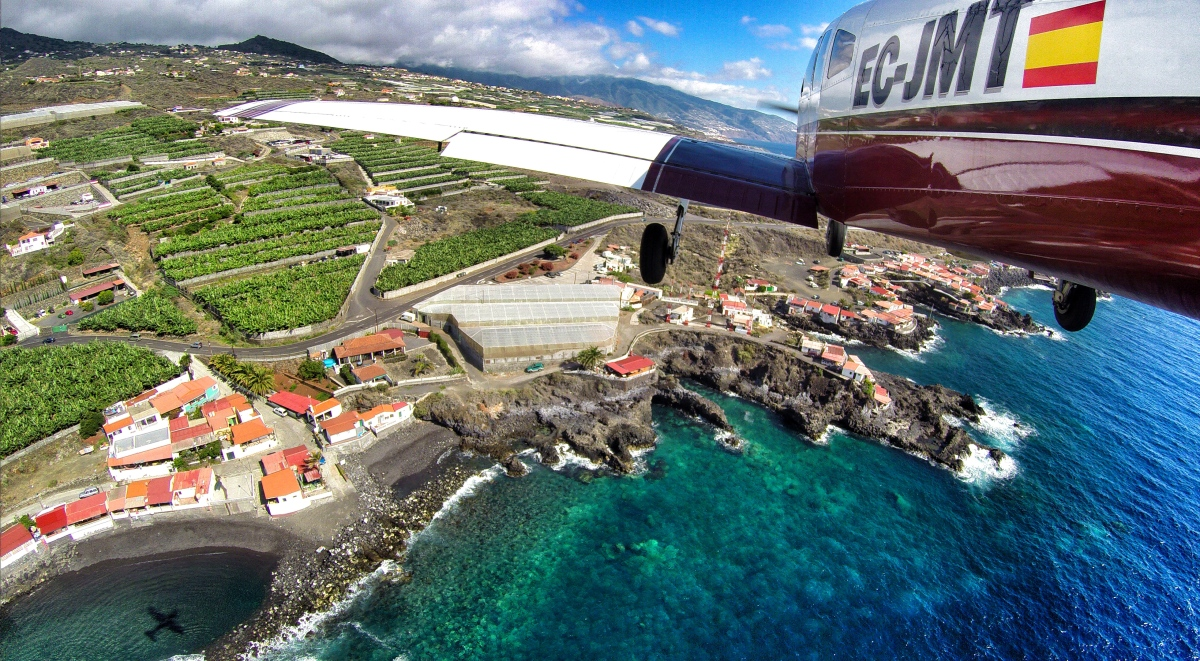 Landing into La Palma