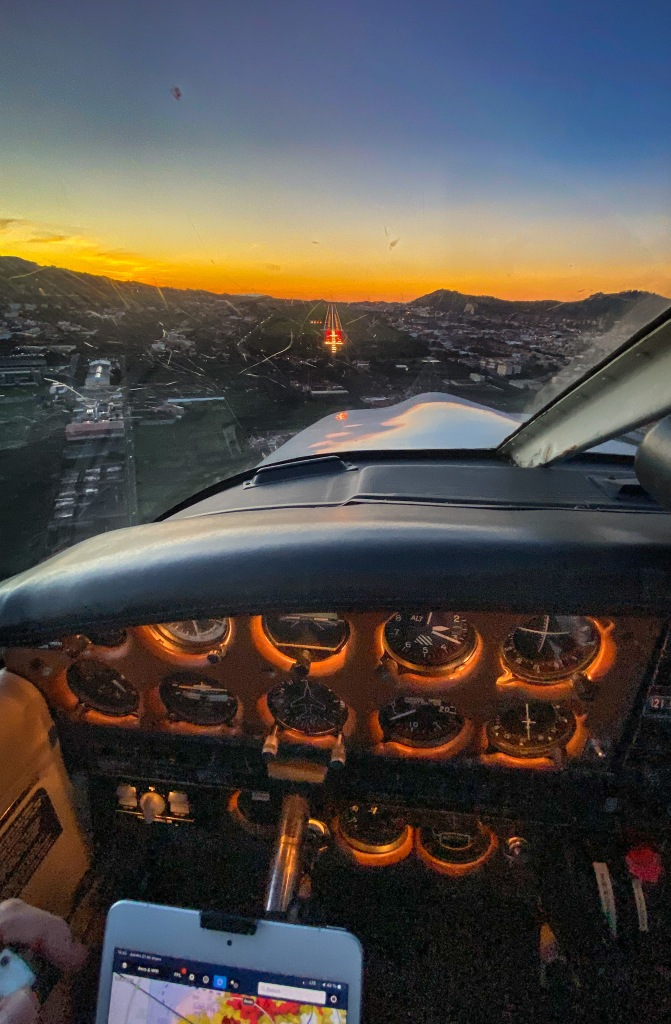 Approach into Tenerife north airport at sunset 🌅